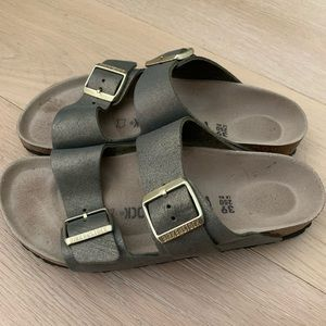 Leather gold Birkenstock's